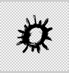 painted sun icon grunge design element for vector image