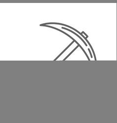 pickaxe bitcoin mining thin line symbol icon vector image