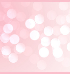 pink bokeh effect background vector image