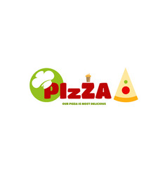 pizza menu logo for your business style vector image