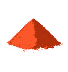 Powdered pepperoni pile of red paprika vector