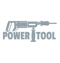 Power tool drill logo simple gray style vector