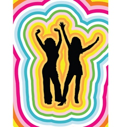 psychedelic females vector image