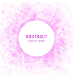 Purple abstract circle frame vector