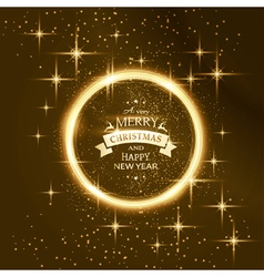 Round star frame with Merry Christmas vector image