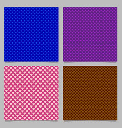 seamless heart pattern background set - love vector image