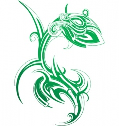 serpent design vector image