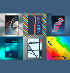 set backgrounds with abstract design vector image