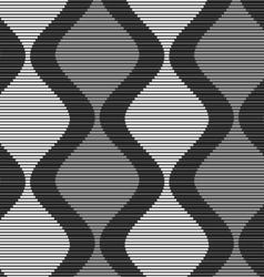 Shades gray striped dark and light bulging vector