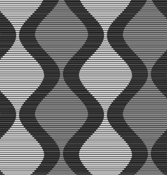 Shades of gray striped dark and light bulging vector