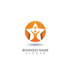 Star success logo and symbosl template vector
