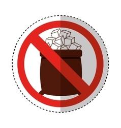 Sugar free seal icon vector