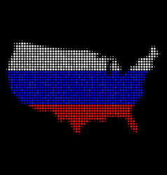 usa map in russian colors vector image