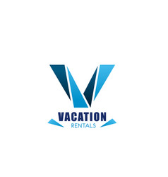 vacation rentals icon real estate agency design vector image