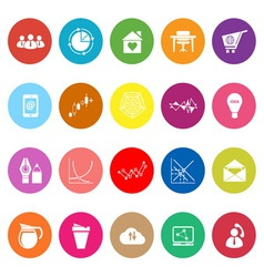 Virtual organization flat icons on white vector image