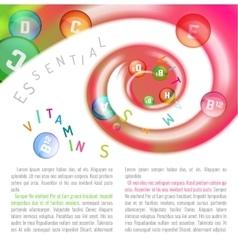 Vitamin Complex Swirl vector