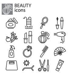 web icons set beauty fashion and makeup vector image