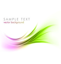 abstract shape smoke on white curves purple green vector image