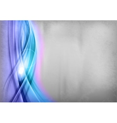background blue wave grey vertical vector image vector image