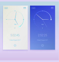 clock application concept of ui design day and vector image vector image