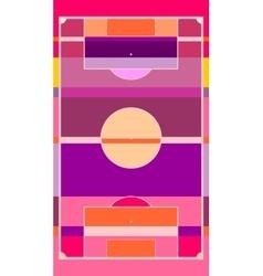 football field plan on striped backdrop vector image