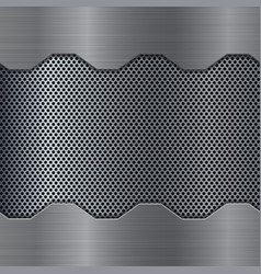 metal background with perforation vector image vector image