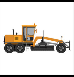 powerful motor grader vector image