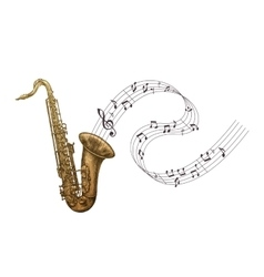 Saxophone music jazz vector image