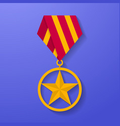 star medal congratulation icon military badge vector image