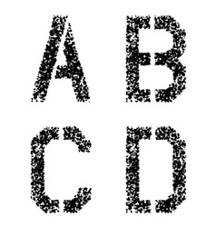 stencil angular spray font letters A B C D vector image vector image