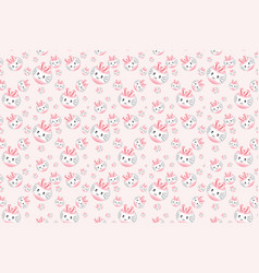 cute pink rabbit cartoon pattern vector image vector image