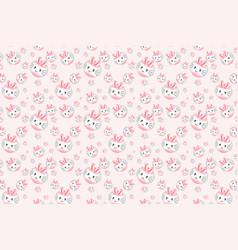 cute pink rabbit cartoon pattern vector image vector image
