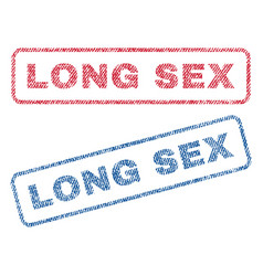 long sex textile stamps vector image vector image