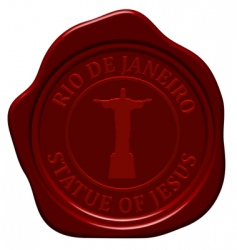 statue of Jesus wax seal vector image vector image