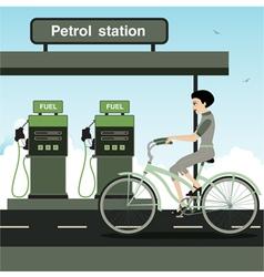 Cycling vector image vector image