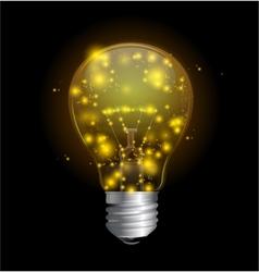 Light bulb and magic lights vector image