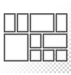 Picture photo frames set vector image