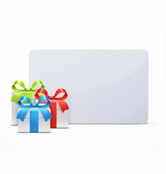 three glossy gift boxes vector image vector image
