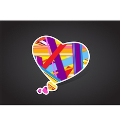 Valentines heart message bubble vector image vector image