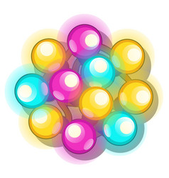 a bunch multicolored glowing christmas lights vector image