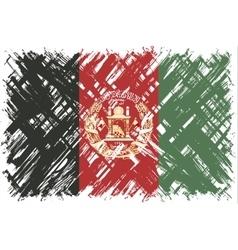 Afghanistan grunge flag vector image