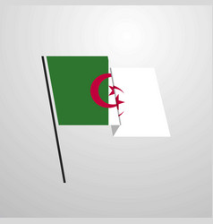 alegeria waving flag design background vector image