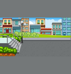 An outdoor scene with town vector
