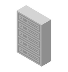 Apartments mailboxes icon isometric style vector