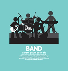 Band Of Musician Black Symbol vector image