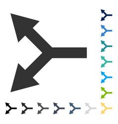 Bifurcation arrow left icon vector