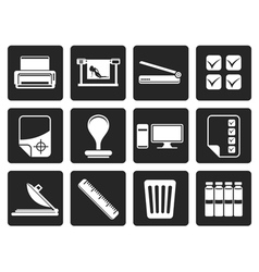 Black Print industry Icons vector image