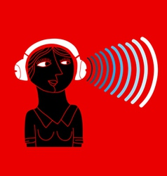 bluetooth headphones vector image
