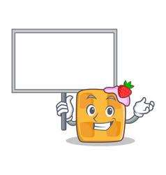 Bring board waffle character cartoon design vector