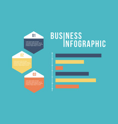 business infographic step and graph design vector image